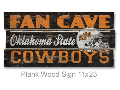 Oklahoma State Cowboys Plank Wood Sign