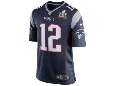 New England Patriots Tom Brady Nike NFL Men's Super Bowl LI Patch Game Jersey