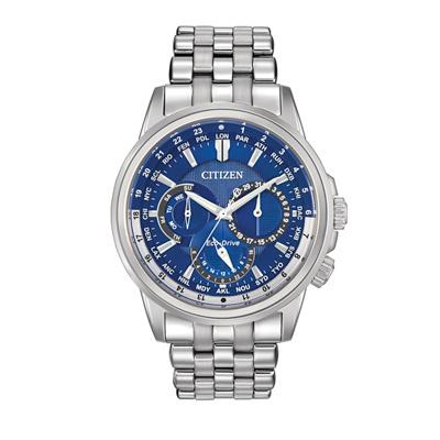 Men's Citizen Eco-drive™ Calendrier Watch With Blue Dial (model: Bu2021-51l)