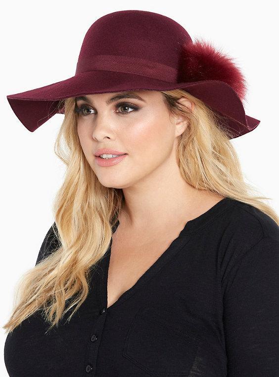 Faux Fur Pom Floppy Hat