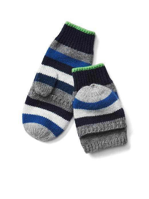 Crazy stripe convertible mittens