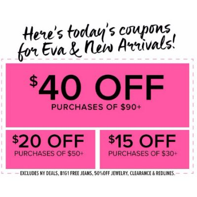 $40 Off Purchases of $90 or More