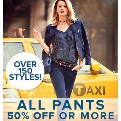 All Pants 50% Off or More