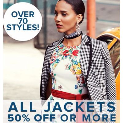 All Jackets 50% Off or More