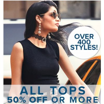 All Tops 50% Off or More