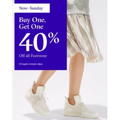 BOGO 40% Off All Footwear