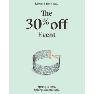 The 30% Off Event