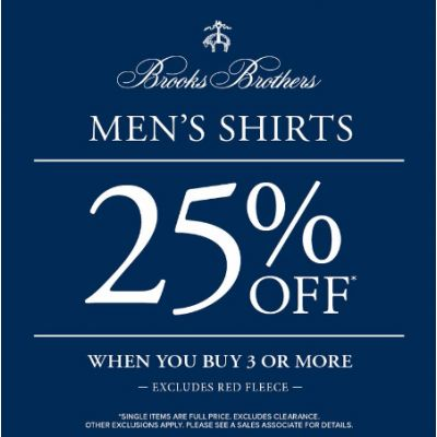 Men's Shirts 25% Off When You Buy 3 or More