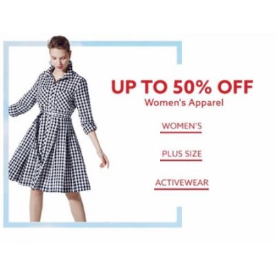 Up to 50% Off Women's Apparel