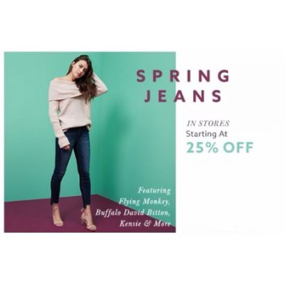 25% Off Spring Jeans