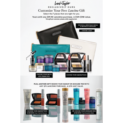 Lancome Gift With Purchase Event