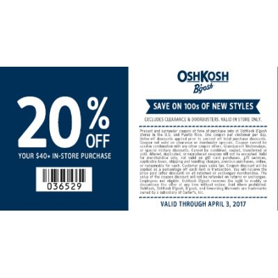 20% Off Your $40' In-Store Purchase