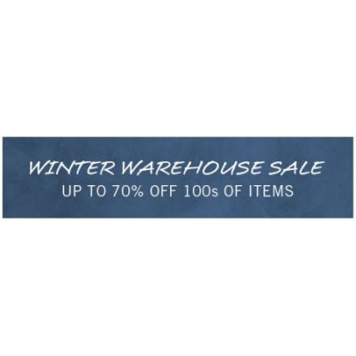 Winter Warehouse Sale up to 70% Off