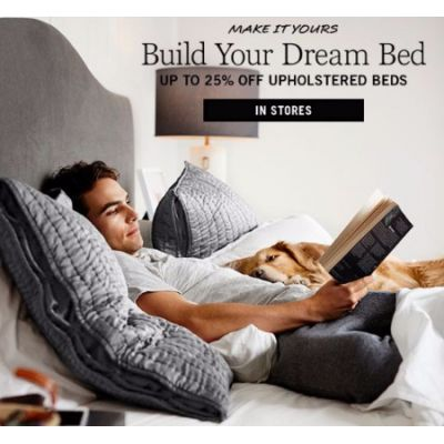Up to 25% Off Upholstered Beds
