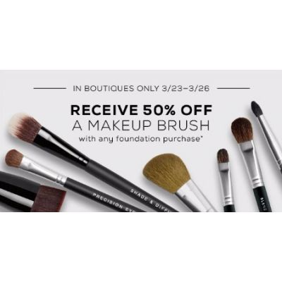 50% Off a Makeup Brush with Any Foundation Purchase