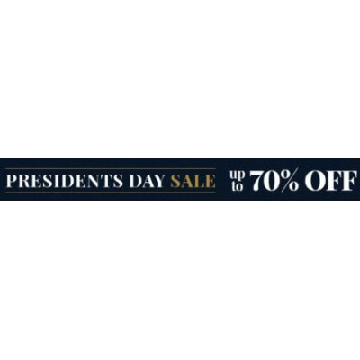 Presidents Day Sale up to 70% Off