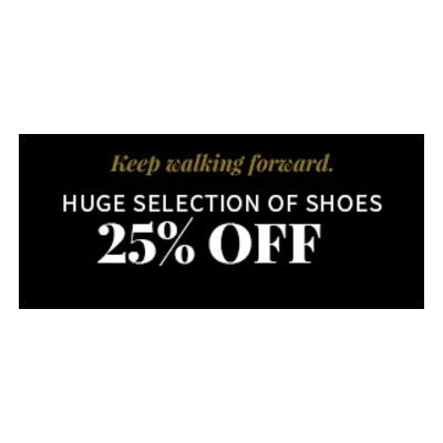 25% Off Huge Selection of Shoes