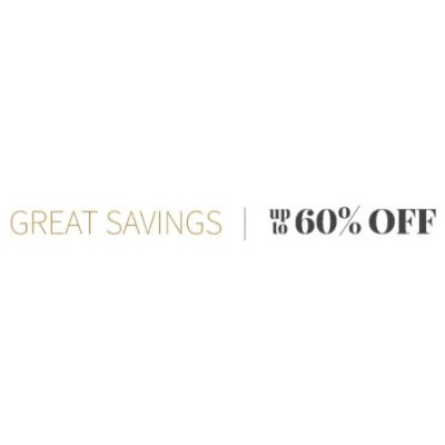 Great Savings up to 60% Off