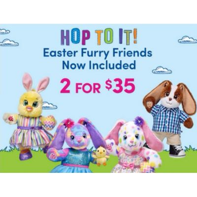 2 for $35 Easter Furry Friends