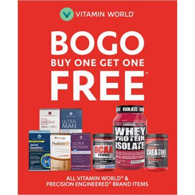 Buy 1 Get 1 Free All Vitamin World® & Precision Engineered Brand Items^