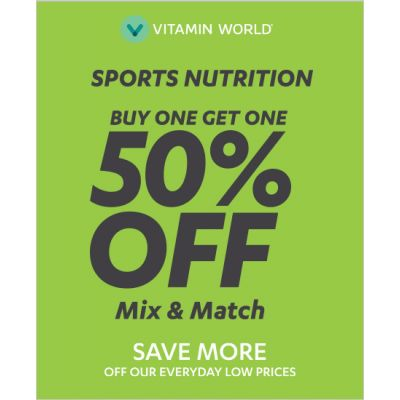 Buy One Get one 50% OFF Sports Nutrition Mix & Match^