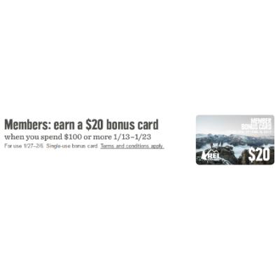 Earn a $20 Bonus Card