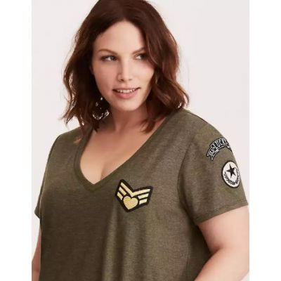 Lucky Patches V-Neck Tee