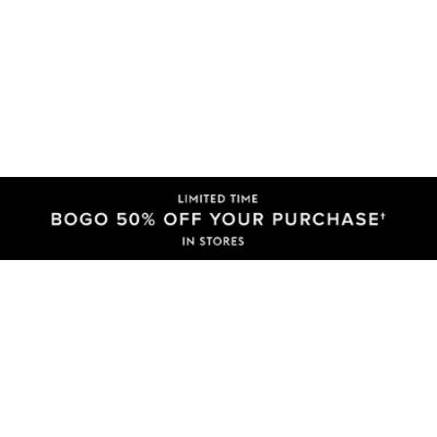 BOGO 50% Off Your Purchase