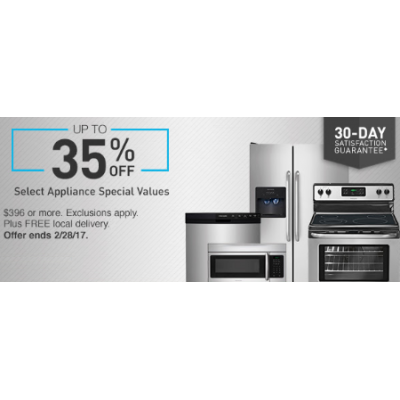 Up to 35% Off Select Appliance Special Values