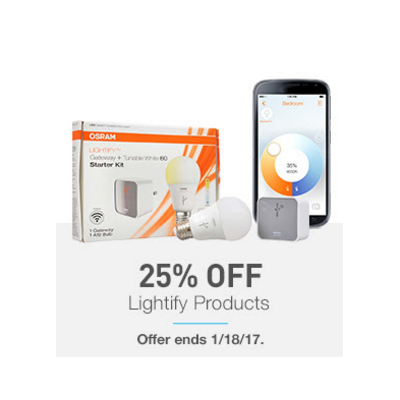 25% Off Lightify Products