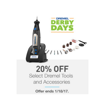 20% Off Select Dremel Tools & Accessories