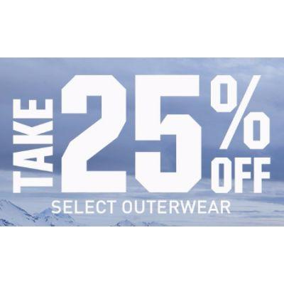 Take 25% Off Select Outerwear