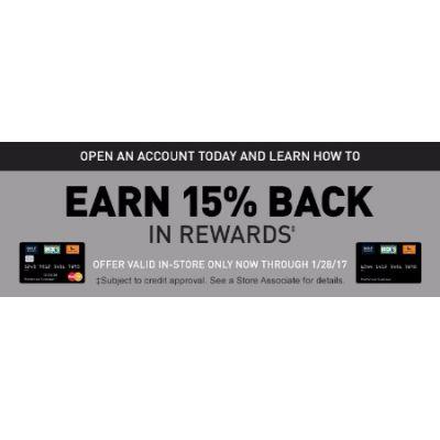 Earn 15% Back in Rewards