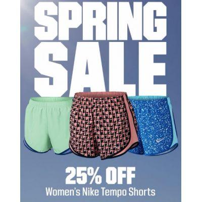 25% Off Women's Nike Tempo Shorts