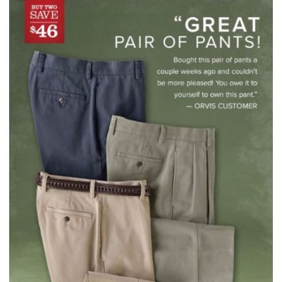 $46 Off when You Buy 2 Pairs of Wrinkle-Free Pants