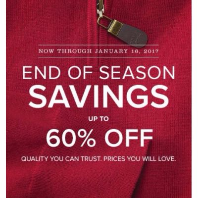 End of Season Savings up to 60% Off