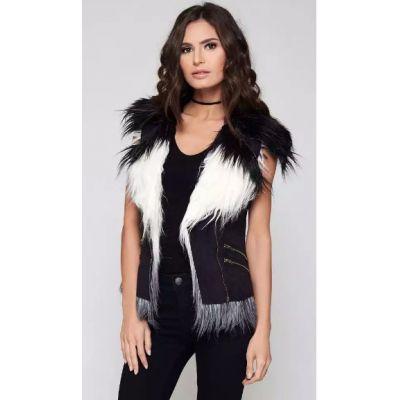 Two Tone Fur Vest