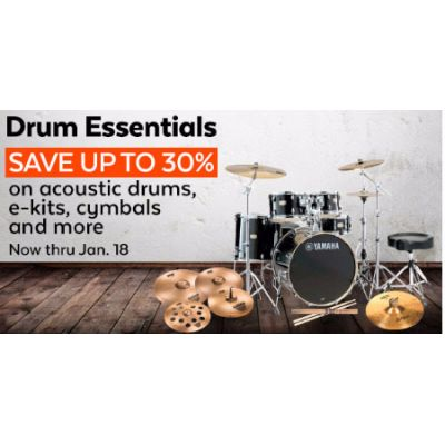 Up to 30% Off Drum Essentials