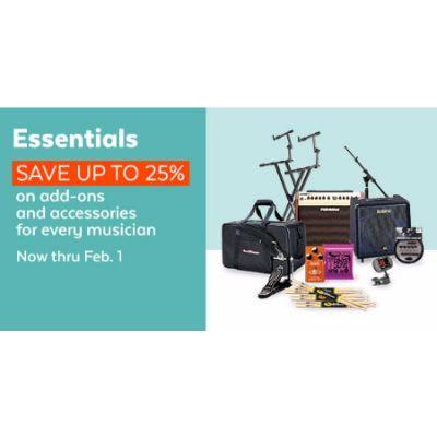 Up to 25% Off Essentials