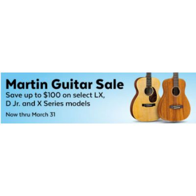 Up to $100 Off Martin Guitar Sale