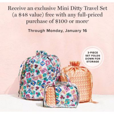 Free Exclusive Mini Ditty Travel Set with Purchase