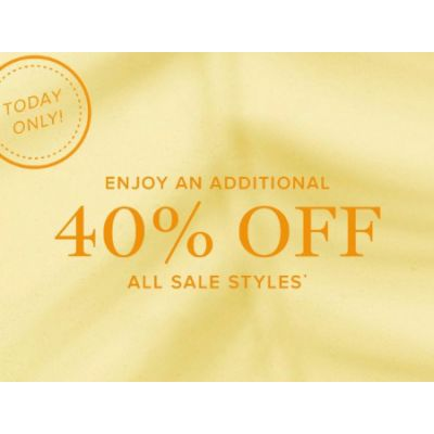 Additional 40% Off All Sale Styles