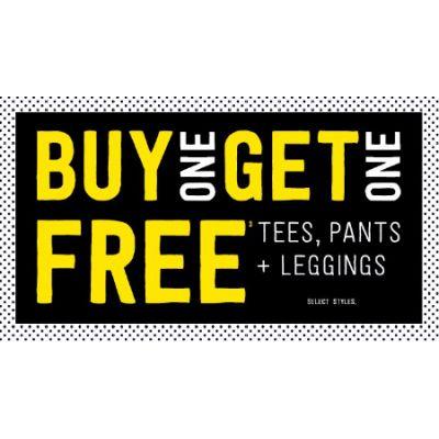 Buy One, Get One Free Tees, Pants & Leggings