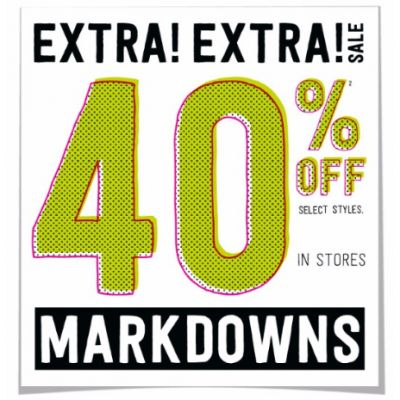 Extra 40% Off Markdowns