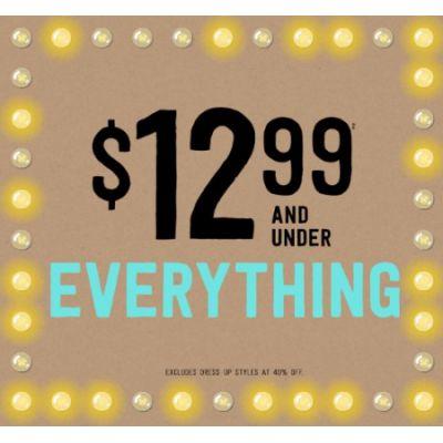 Everything $12.99 & Under
