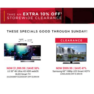Extra 10% Off Clearance