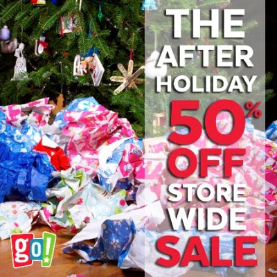 THE AFTER HOLIDAY 50% OFF STORE WIDE SALE!