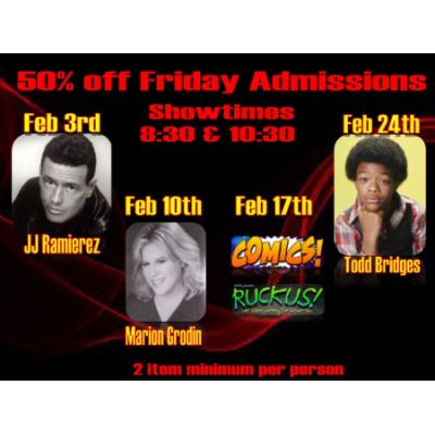 50% OFF Fridays in February