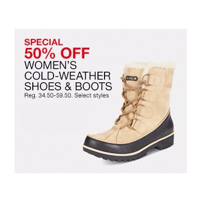 50% Off Women's Cold-Weather Shoes & Boots