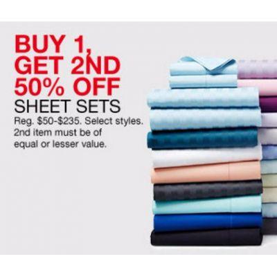 Buy 1, Get 2nd 50% Off Sheet Sets